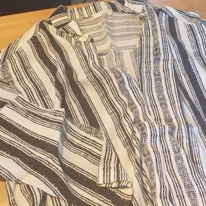 Stripped 3/4 sleeves blouse